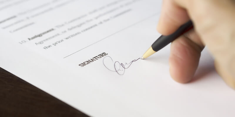 Signature of Documents