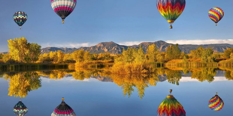 Multi-coloured Hot Air Balloon