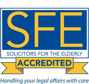SFE Solicitors For The Elderly Accredited Certificate Logo