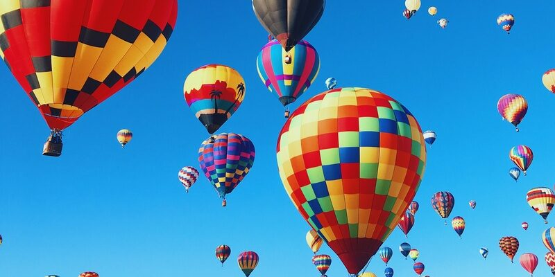 Hot air balloons signifying hope in family mediation