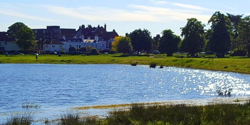 Country Lake next to Town