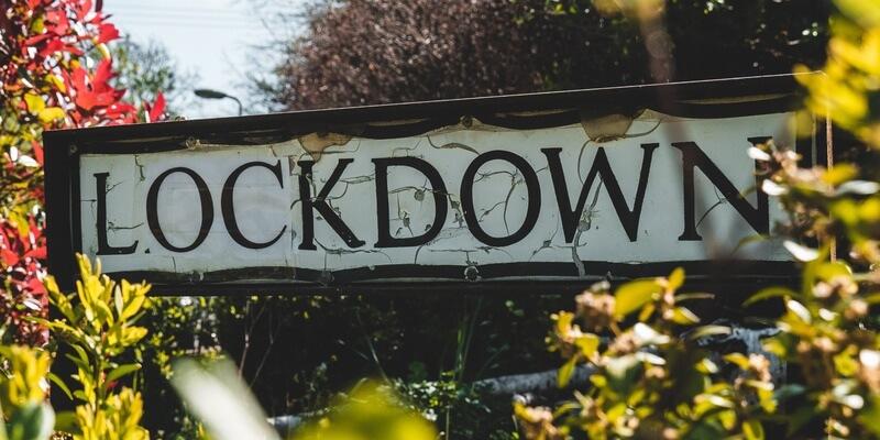 Lockdown street sign