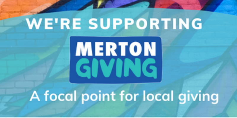 We're supporting Merton Giving graphic