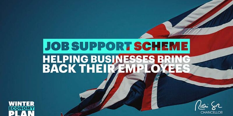 Government image of Union Jack advertising Job support scheme