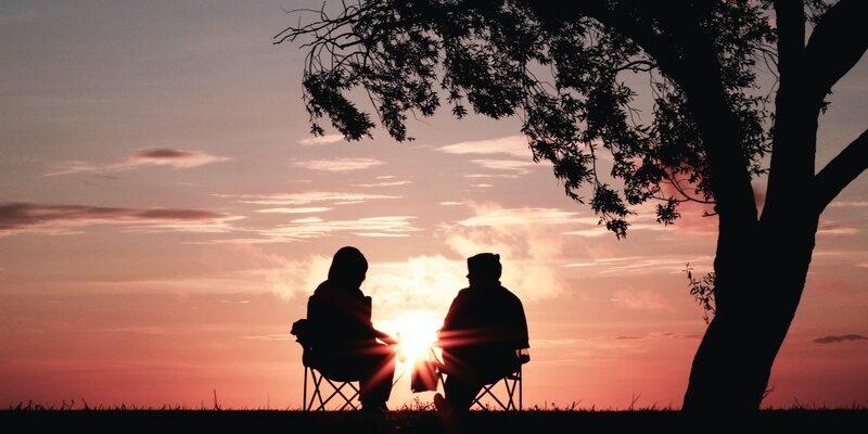 older couple in twilight