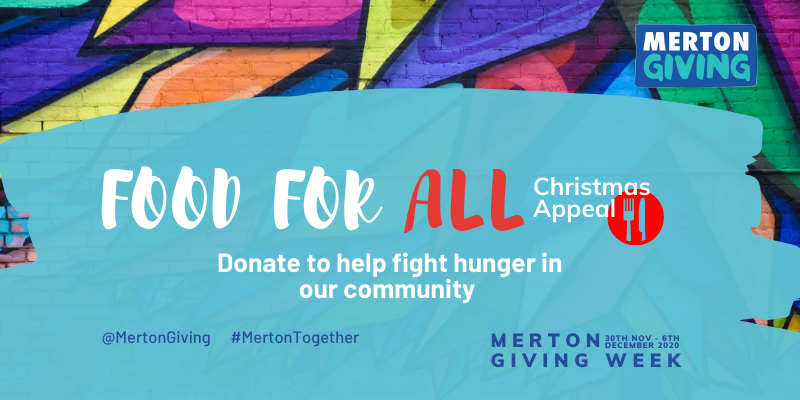 Graphic image for the Merton Giving Week Food for All Campaign
