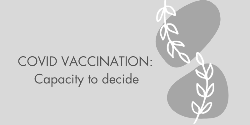 Covid Vaccination capacity to decide typography