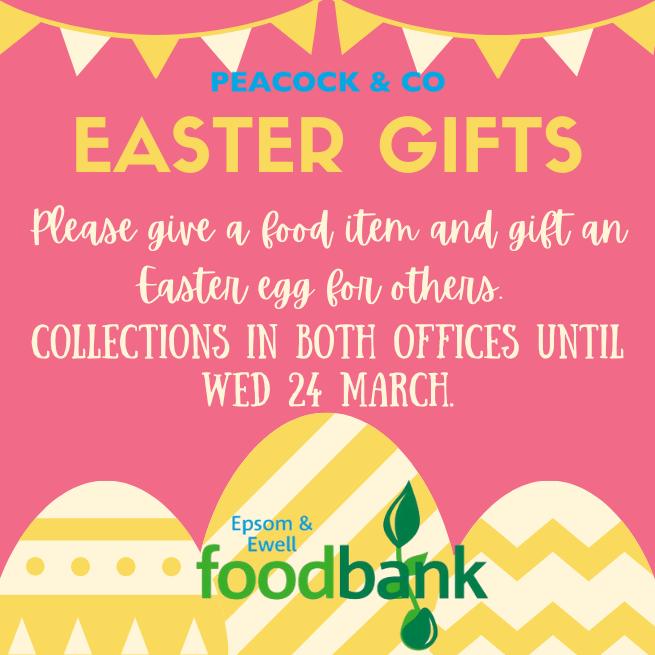 Easter egg donations for Epsom & Ewell Foodbank