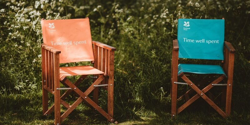 Two National Trust chairs signifying co-branded promotions.