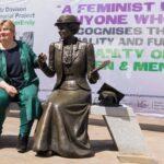 Emily Thornberry MP with Emily Davison memorial statue. Credit: Rachel Thornhill
