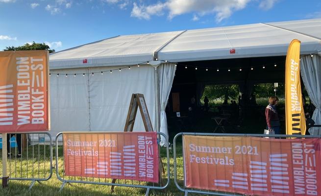 Wimbledon Bookfest tent