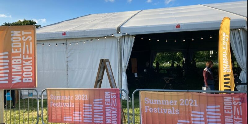 Wimbledon Bookfest tent event venue for Anya Hindmarch