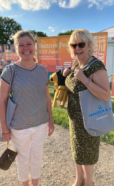 Fiona Fleming and Deirdre McManus at Wimbledon Bookfest
