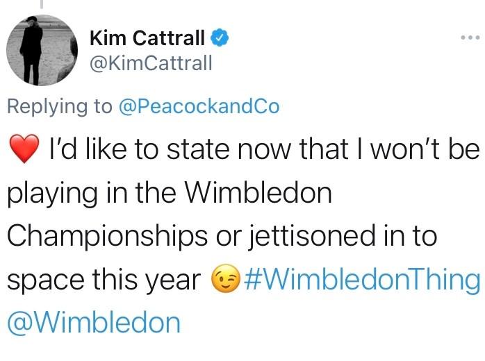 Kim Cattrall twitter post