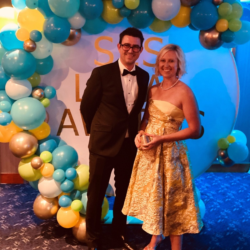 Ben Pearson and Ema Bryn Jones at the SLS Legal Awards 21