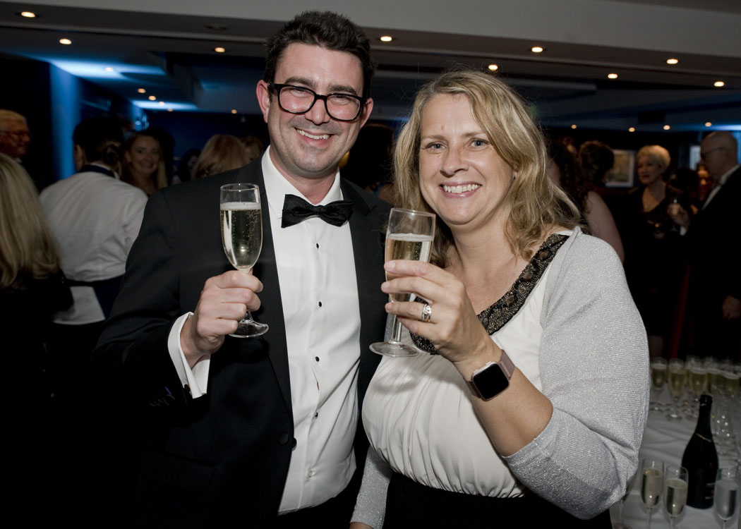 Ben Pearson and Katherine Carroll at the SLS Legal Awards 2021