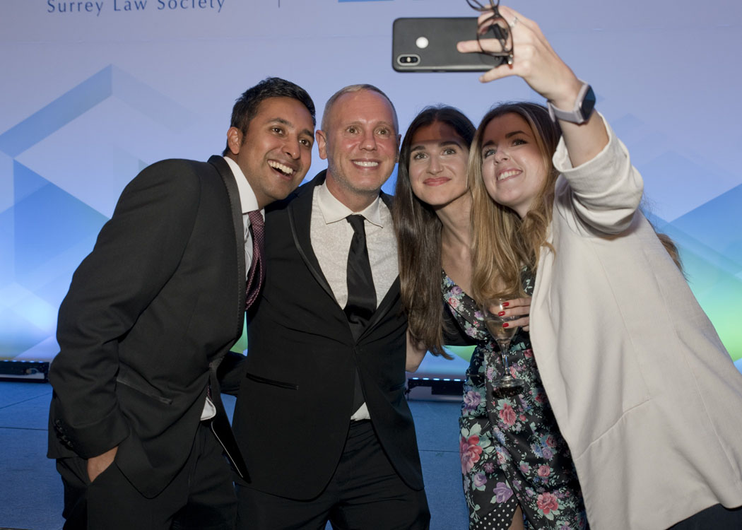 Rahul Siva, Rob Rinder, Karolina Pylko and Greta Baruffi at the SLS Legal Awards 2021