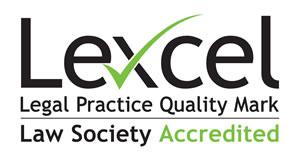 Lexcel accreditation typographic logo